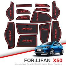ZUNDUO tapis Anti-poussière de porte   Pour Lifan X60 X50 2011-2015 tapis de porte voiture, tapis antidérapant rouge blanc