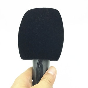 Black Triangle Flocked Foam Reporter-Style Windscreen Microphone Cover for Handheld Mics windshield Inside Diameter: 4 CM(1.57)