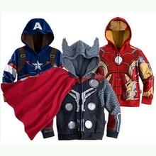 Avengers Marvel veste de dessin animé   Sweat-shirt, Super héros fer Man Tor Giant Captain America, Spider-Man, veste pour garçon, 2019 nouveau