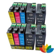 10 cartuchos de tinta compatibles T127 XL para EPSON 60 630, 633, 635, 645, 840, 845 WF-3520 WF-3540 WF-7010 WF-7510 WF-7520