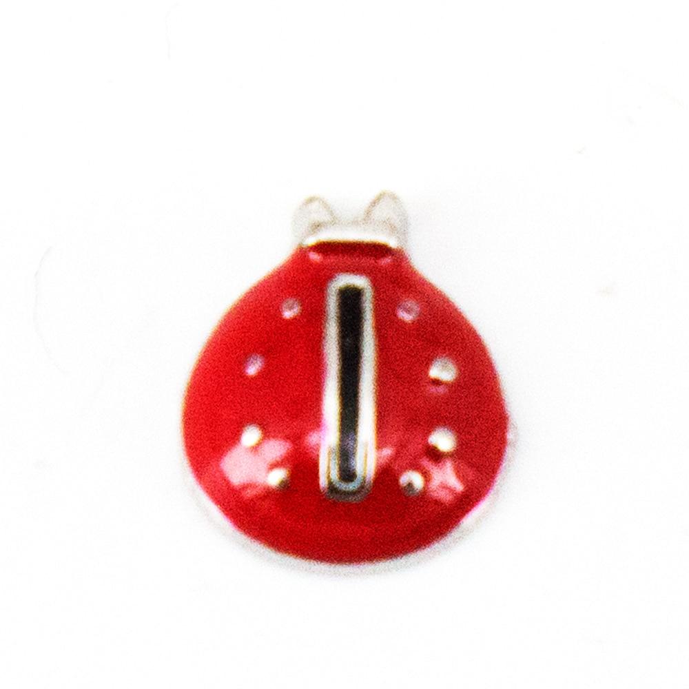 10 Uds. Mariquita abalorios flotantes para medallón de cristal cantidad mínima $15 por pedido artículos variados, FC-014