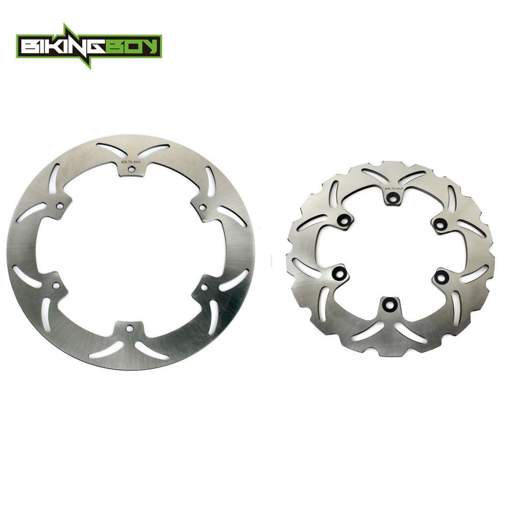 Bikingboy discos de freio dianteiro traseiro discos rotores para yamaha xj 600 n s desvio 91 92 93 94 95 96 97 xj600n xj600s 320mm 245mm