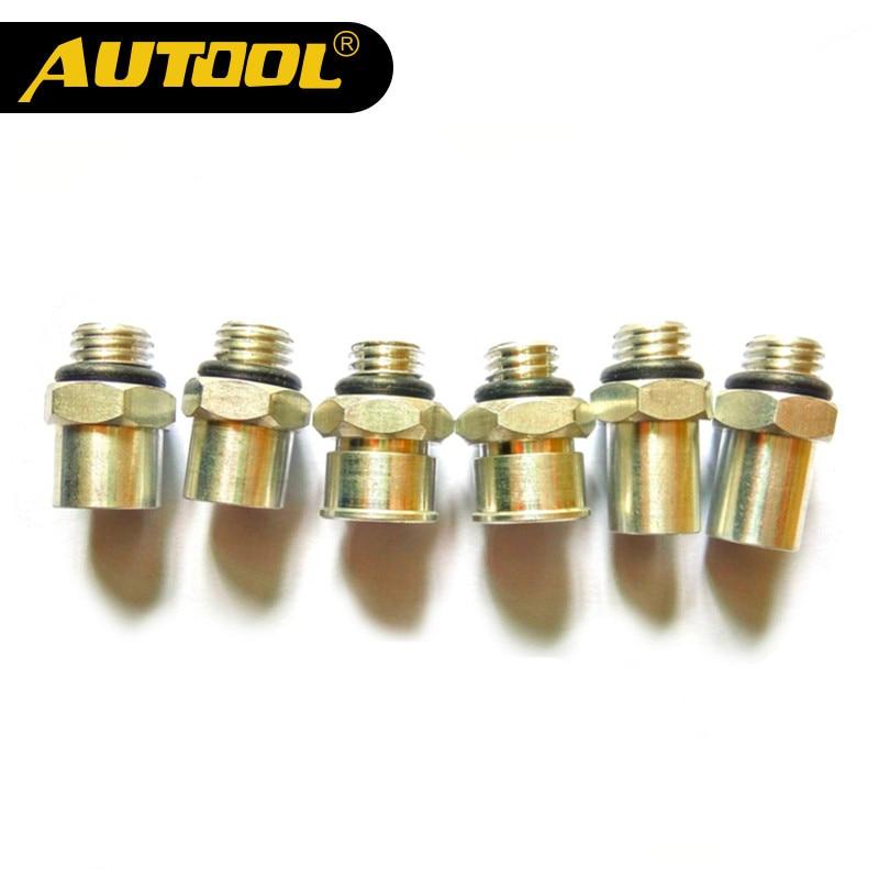AUTOOL CT150 CT200, Conector de boquilla de inyector de combustible para motocicleta, piezas de Motor de prueba, accesorios de autociclo, Scooter de Autobike, 6 piezas