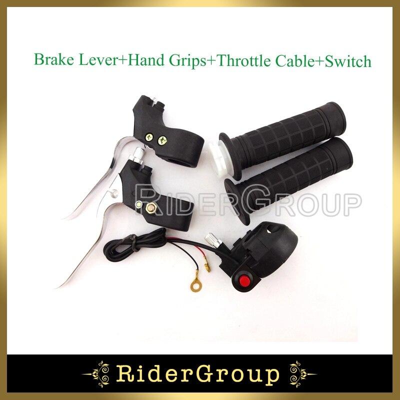 Minimoto 7/8 ''22mm manillar del acelerador Kill Stop Switch palancas de freno para 47cc 49cc 2 tiempos bolsillo bicicleta Mini Dirt Chooper