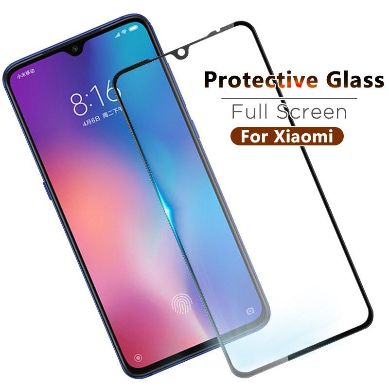 Cubierta completa de vidrio templado para Xiaomi mi A3 Lite CC9E CC9 mi cc9e Protector de pantalla para Xiaomi mi 9t Pro 9 SE mi 9 película protectora