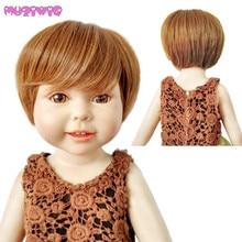 MUZIWIG résistant à la chaleur synthétique classique court Bob perruque de poupée pour 18 pouces poupée américaine maison poupées perruques accessoires