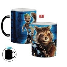 Guardians of the galaxy becher kaffeetassen magie farbwechsel mug wärme empfindliche teetassen keramik tasse geschenk