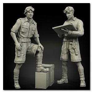 1/35 Resin Figure Model Kits British (2 figures) Unassambled Unpainted 552