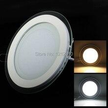 6W 9W 12W 18W LED panneau Downlight carré/rond couvercle en verre lumières haut plafond lumineux 3000K 4000K 6000K lampes encastrées