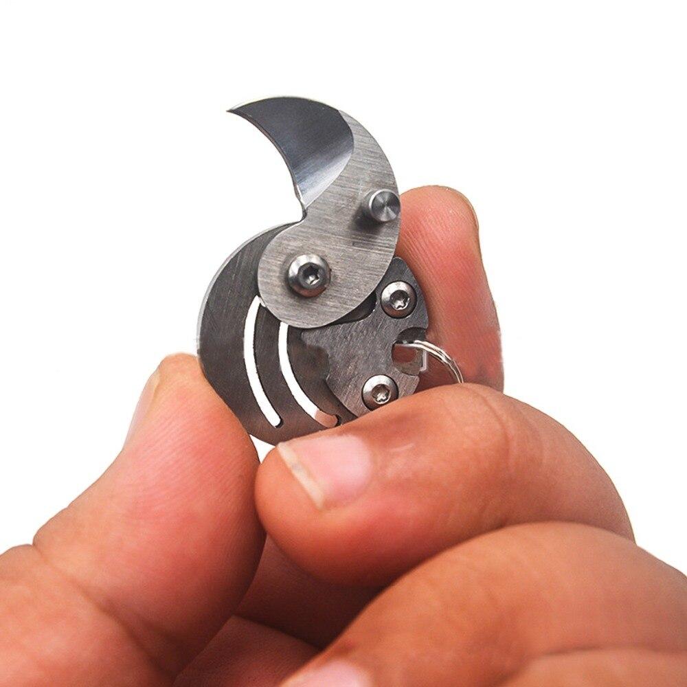 Мини Портативный складной нож для монет с брелоком Карманный складной мини нож для выживания на природе снаряжение для чистки овощей боевой Открытый лагерь для чистки монет