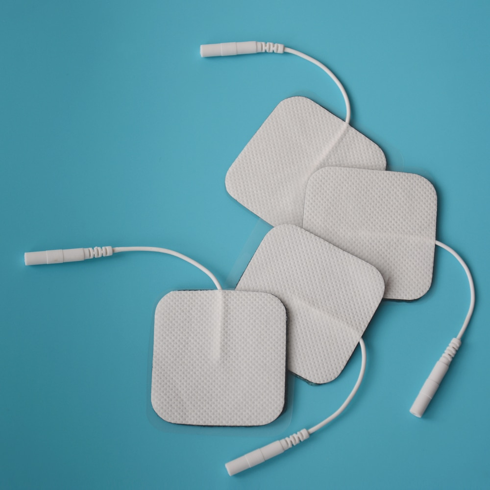 20pcs/lot(10pair) 5x5cm Electrode Pads for Tens Electrode Pads for TENS Therapy Self-Adhering, Reusable and Premium Quality