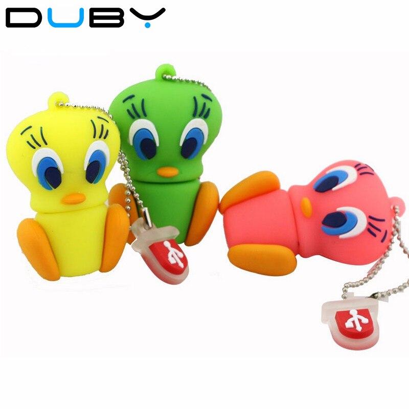 Animal Daffy Duck Bugs Bunny Crow Lion cat pendrive64GB 32GB 16GB 8GB 4GB 128M USB Flash Drive U Disk cartoon Memory Stick Gift