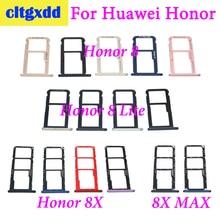 Cltgxdd Için Huawei Onur 8/8 Lite SIM Kart Tepsi Tutucu Mikro SD Yuvası Soket Adaptörü Için Huawei Hono 8X/ 8X MAX Sim Tepsi Soket