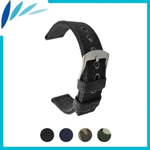 Nylon Nato Watch Band 18mm 20mm 22mm 24mm for Citizen Men Women Canvas Fabric Strap Wrist Loop Belt Bracelet Black Blue Green