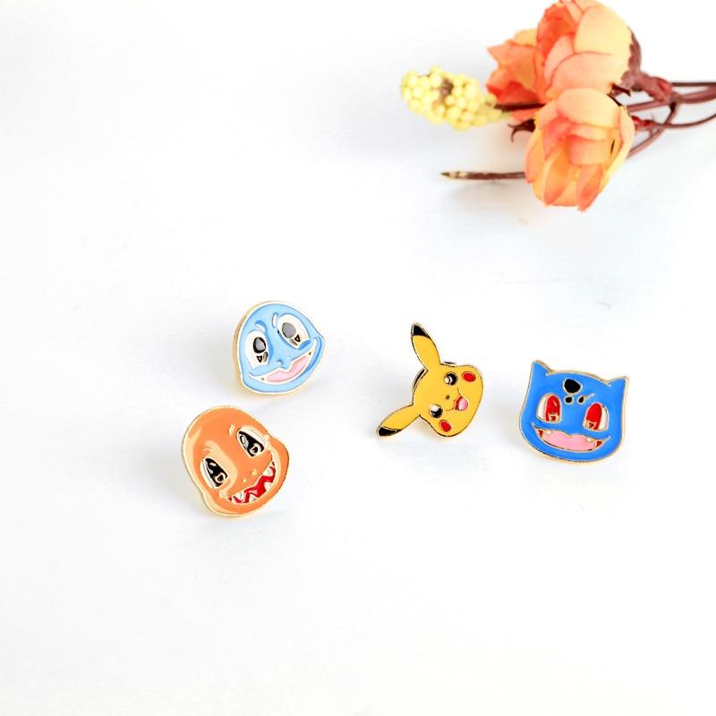 Anime de dibujos animados Pokemon Pikachu elfo bebé pin con Distintivo de moda lindo Esmalte broche de oro ropa mochila de moda del encanto de regalo de la joyería
