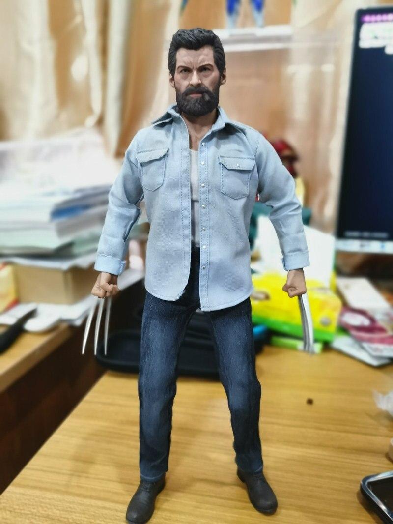 [Drôle] 12 en colère fer loup homme 1/6 échelle Action Figure corps et tête sculpter et vêtements ensembles Collection modèle jouet