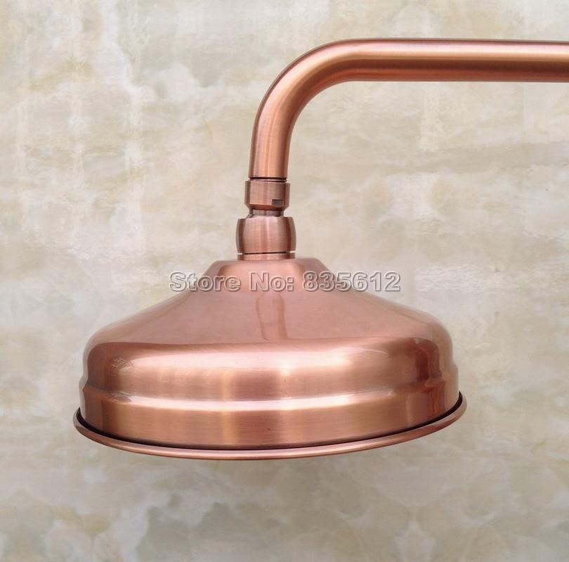 "8 ""pulgadas lluvia redondo antiguo rojo cobre baño lluvia ducha cabezas Wsh054"