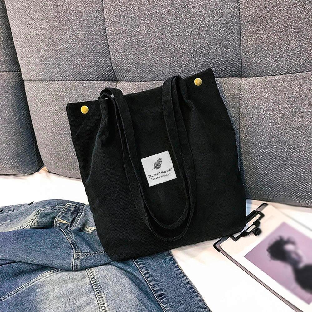 Bolso de mano de diseño sencillo de pana para mujer, bolso de hombro minimalista, bolsos de mano informales para mujer, Moda bolso de mano