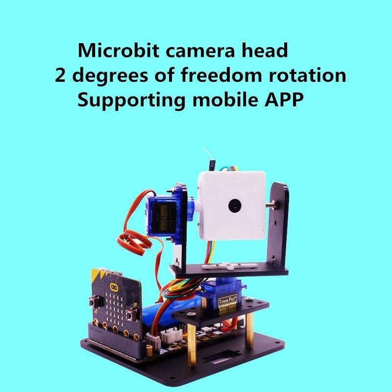 Microbit מצלמה ראש מיקרו קצת רובוט WIFI עגלה חכם ראיית ערכת עם אפליקציה