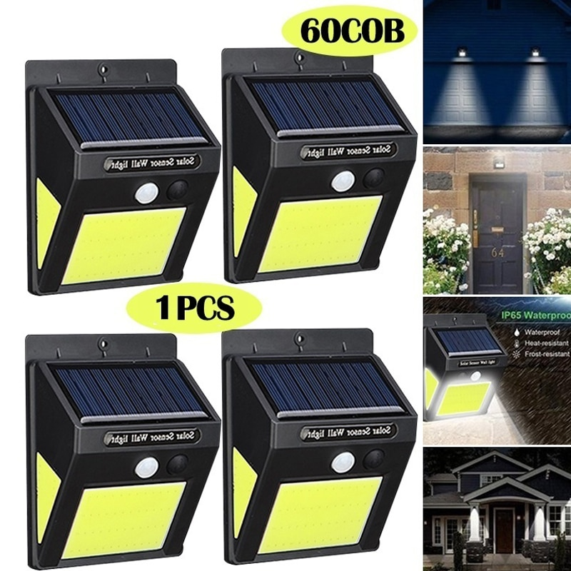 Solar Durable Wall Light Home Walkway Lights for Solar Power Outdoor Street Lamp Light Controlled Garden Lamp