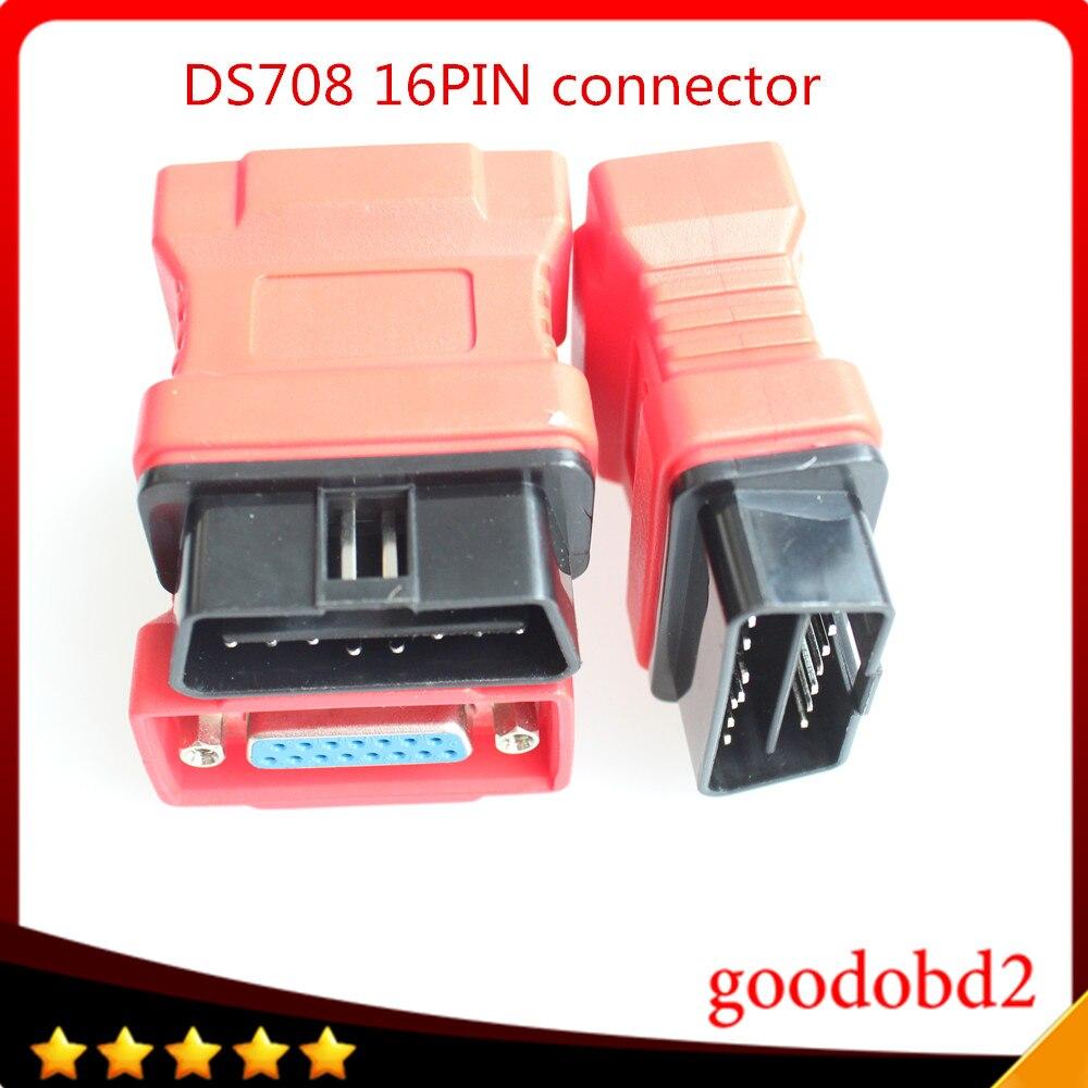 Para Autel Maxidas DS708 OBDII conector DS708 OBD 16PIN 16 Pin herramienta de diagnóstico del coche OBD-II OBDII Obd2 adaptador
