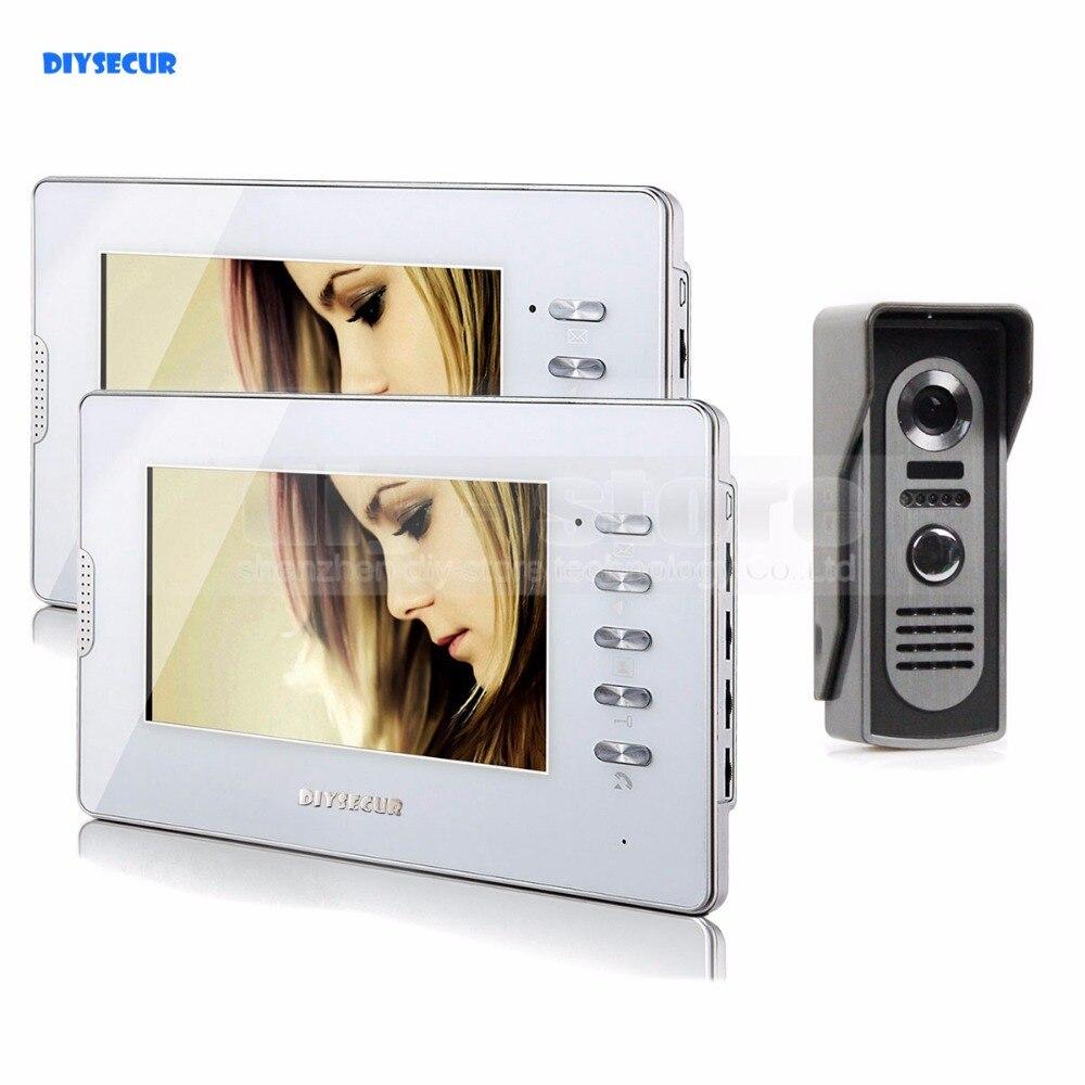 """DIYSECUR Kablolu 7 """"LCD Video Kapı Zili Kapı Telefonu Görüntülü interkom sistemi Ev Giriş Güvenlik"""