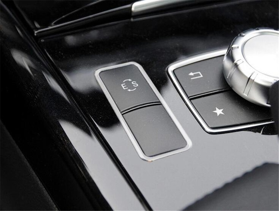 Cadre de protection de Console centrale   Autocollant de garniture pour Mercedes Benz classe E W212 E200 E250 E260 E300 E320 2014 2015