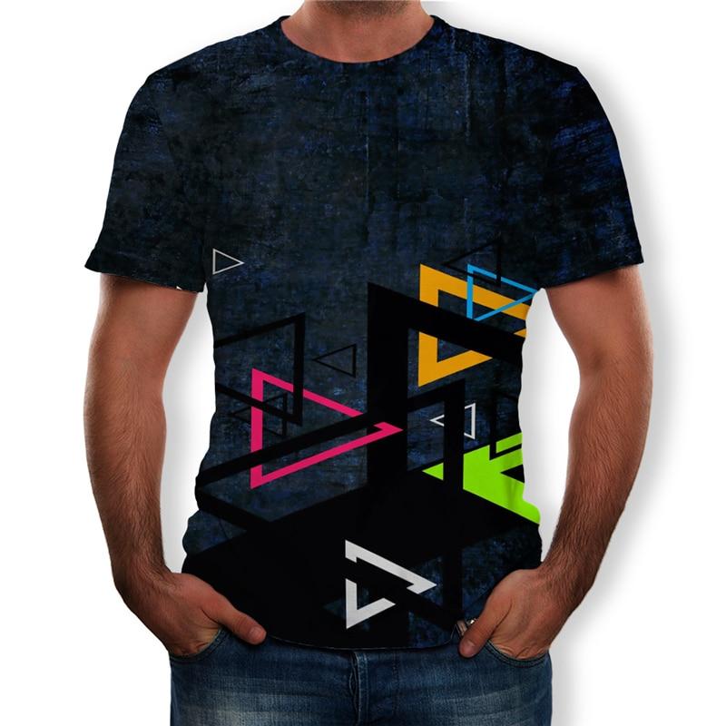2020 été hommes haut t-shirts mode créative impression 3D décontracté à manches courtes col rond T-Shirt grande taille S-6XL hommes T-Shirt vêtements
