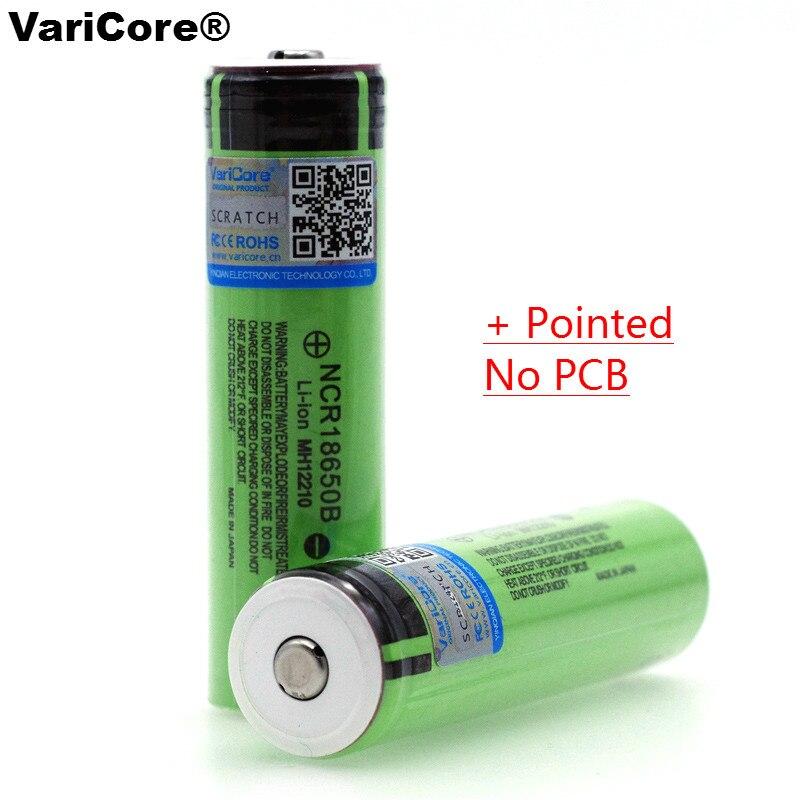 Batería Varicore 18650 3400 mAh NCR18650B con original 3,7 V para adecuado para linternas plus sharp sin protección