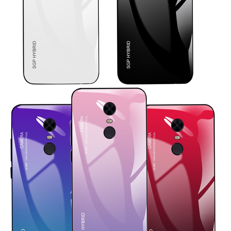 Funda de teléfono para Xiaomi Redmi note 8t 8 5 6 7 pro gradiente de cristal templado para Redmi 6A 7A 8A 5 Plus