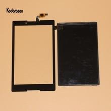 جديد لينوفو تاب 2 A8-50 A8-50F A8-50LC محول الأرقام بشاشة تعمل بلمس الزجاج + شاشة الكريستال السائل لوحة استبدال Prats الأسود