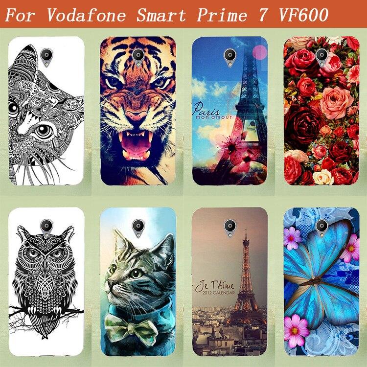 Vodafone Smart Prime 7 VF600 suave TPU cubierta pintura belleza caso estilo de flores Vodafone smart Prime 7 vf600 5 cubierta de la bolsa