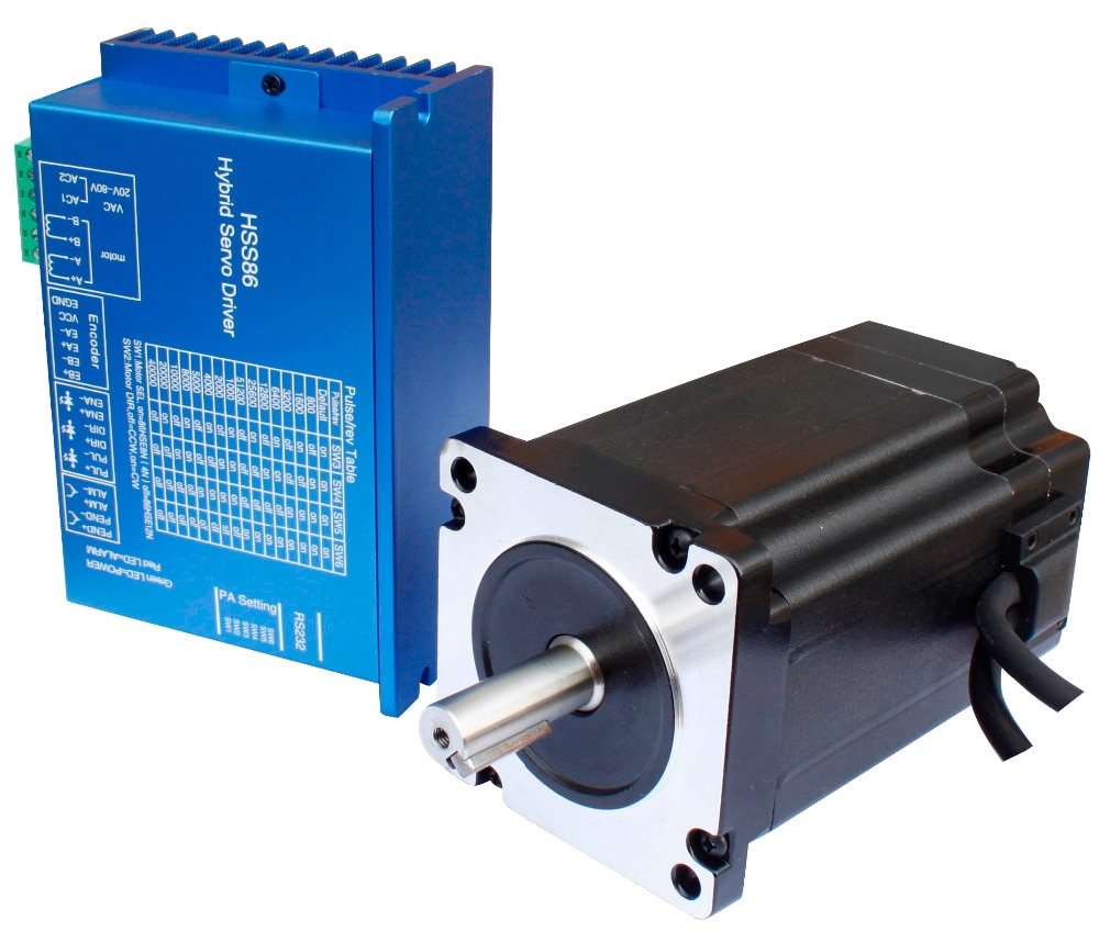 86HSE4N-BC38 motor paso a paso de circuito cerrado + HSS86 juego de motores serie de pasos de circuito cerrado