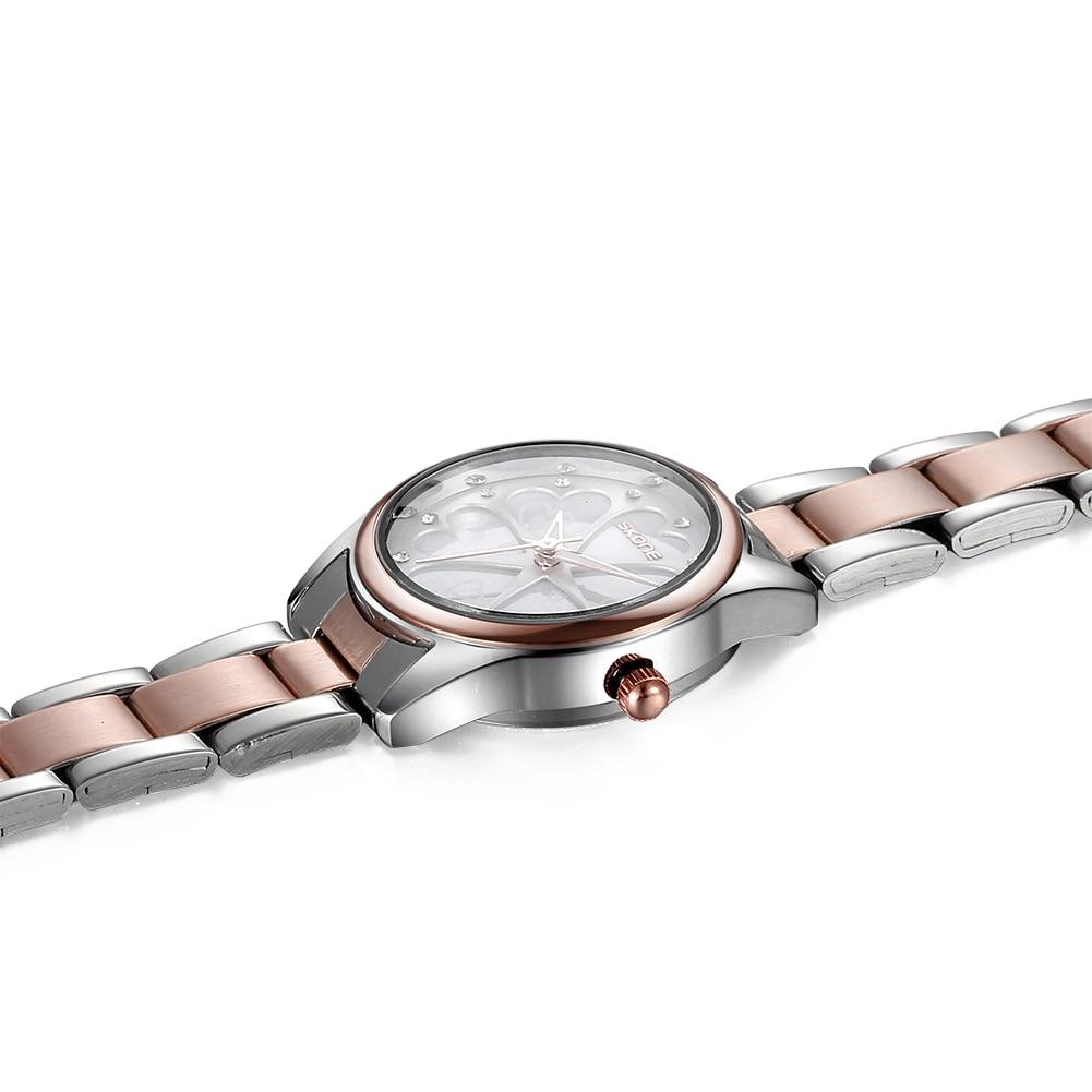 2019 new luxury rose gold ladies stainles ssteel bracele tcasual fashion waterproof quartz ladies watch Masculino Relojes enlarge