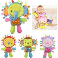 8 видов стилей детские игрушки 0-12 месяцев, успокаивающий колокольчик, Мягкие Плюшевые Развивающие игрушки для младенцев, детские погремушк...