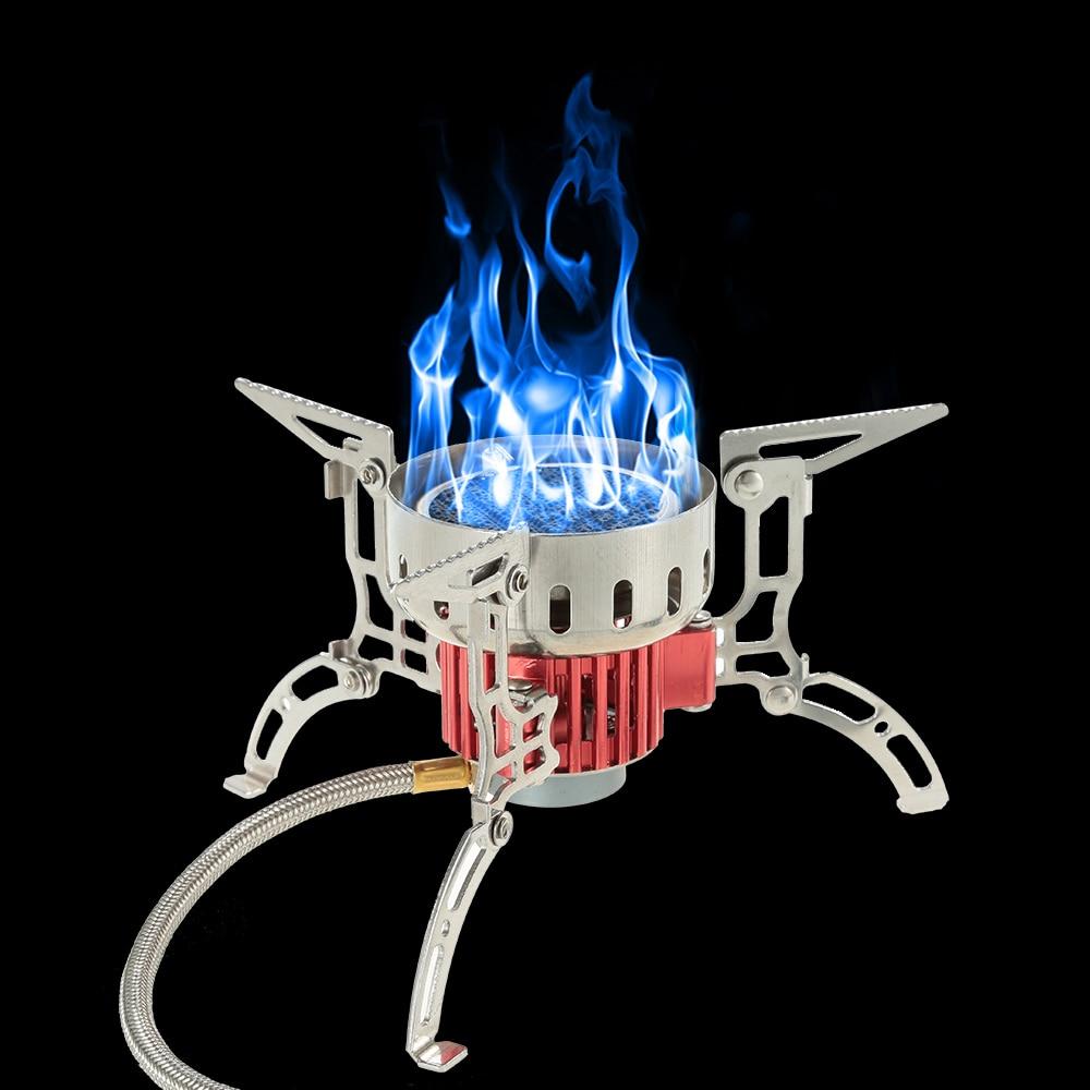 Наружная инфракрасная походная плита, сверхлегкая портативная печь, складная ветрозащитная газовая плита, мини горелка для пикника, пешего туризма