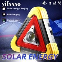 100 W Werk Licht Lamp Draagbare Spotlight Solar COB Lantaarn Power Bank USB Oplaadbare Waarschuwing Zaklamp Camping Zoeklicht