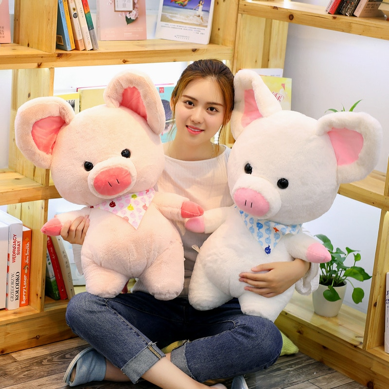 70 cm, cerdo Rosa Suave, Adorable juguete de peluche, peluche suave, bonito Animal, cerdo, muñecas encantadoras para niños, juguete tranquilizador, decoración de la habitación del bebé