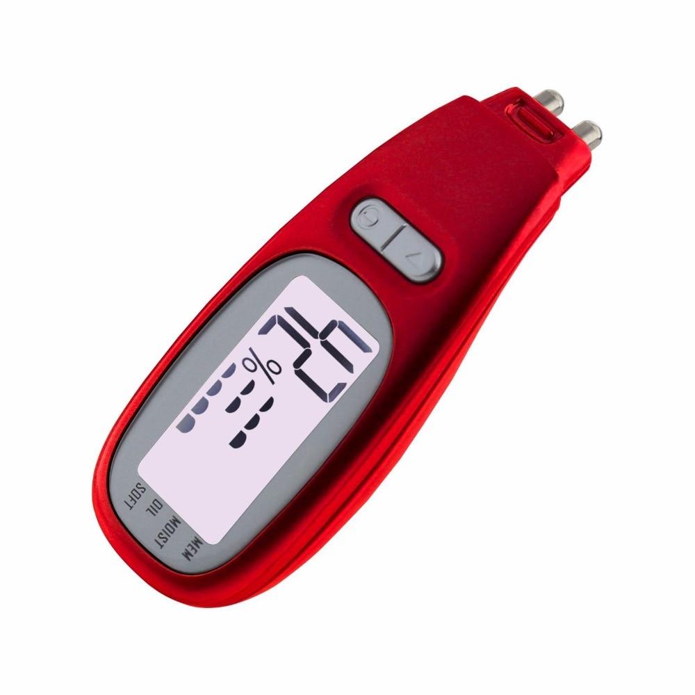 Тестер кожи с ЖК-дисплеем для измерения содержания влаги в масле, цифровой анализатор влажности, монитор для салона, спа, дома