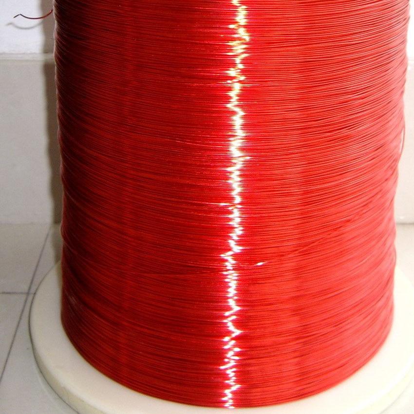 Cable rojo magnético 0,8mm alambre de cobre esmaltado bobina magnética 1 merter
