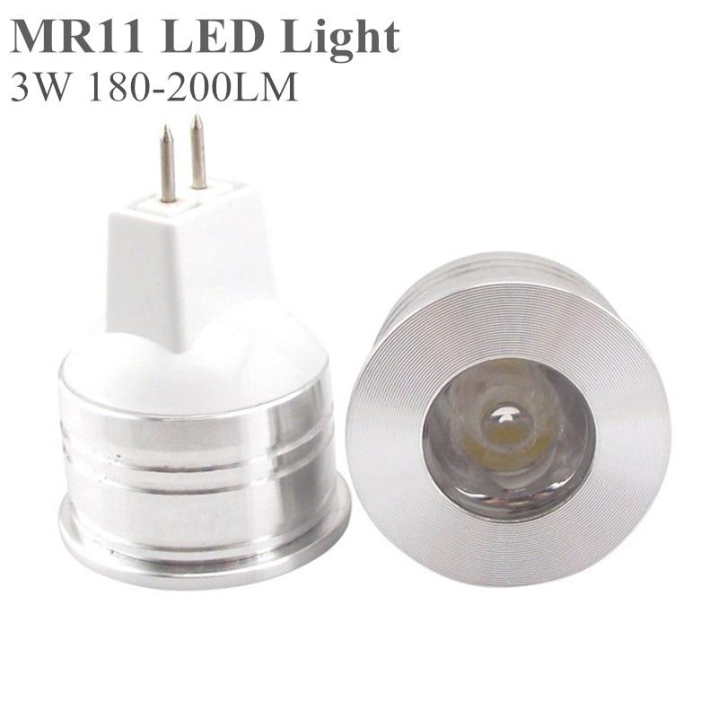 5X MR11 LED Light Bulb 3W 12V 35mm Diameter Bright Mini LED MR 11 Lamp GU4 Spotlight Bulbs