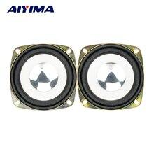AIYIMA 2 pièces 3 Pouces Audio Haut-parleurs Portables Haut-parleurs de Gamme Complète de 4 Ohm 20 W Subwoofer Haute Puissance Double Magnétique Étanche Haut-Parleur