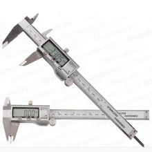 Mesure précise de létrier électronique numérique LCD en Fiber de carbone en acier inoxydable 6 pouces 150mm de diamètre intérieur
