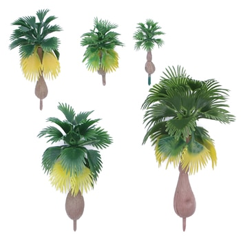12pcs נוף נוף מודל עץ עצי דקל טרופי יער נוף בקנה מידה N Z 1 100-1 300