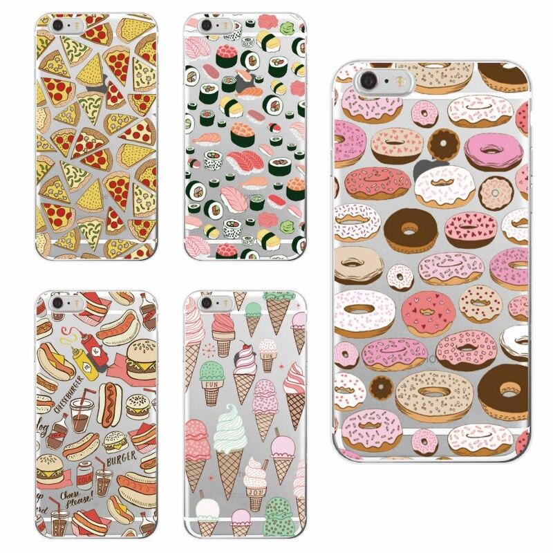 Pizza Donuts Sushi Hotdog helado bulldog francés cubierta de la caja del teléfono fundas para iphone 11 Pro 7 más 7 6 6S 8 Plus X XS X Max