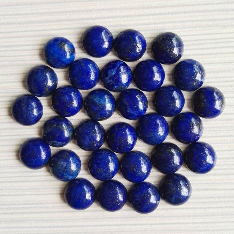 Модные лазурит 10 мм 50 шт Круглые бусины из натурального камня высокого качества Кабошон бусины для изготовления ювелирных изделий Аксессуа...