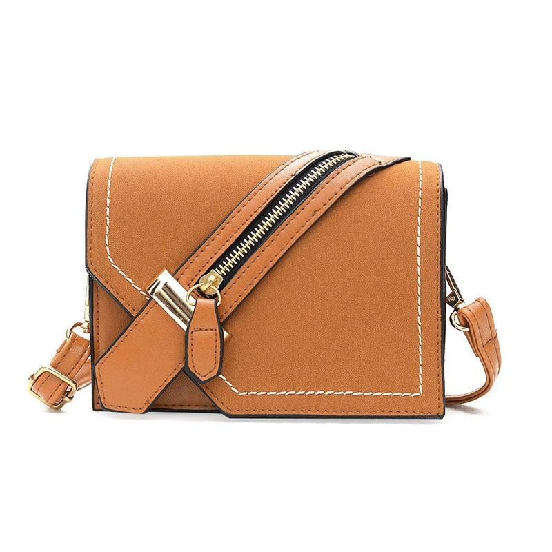 Fashion Design Brand Women Messenger Bags Mini Handbag Brown Shoulder Bags Flap Hand Crossbody Bag For Lady Sac Femme Bolsa