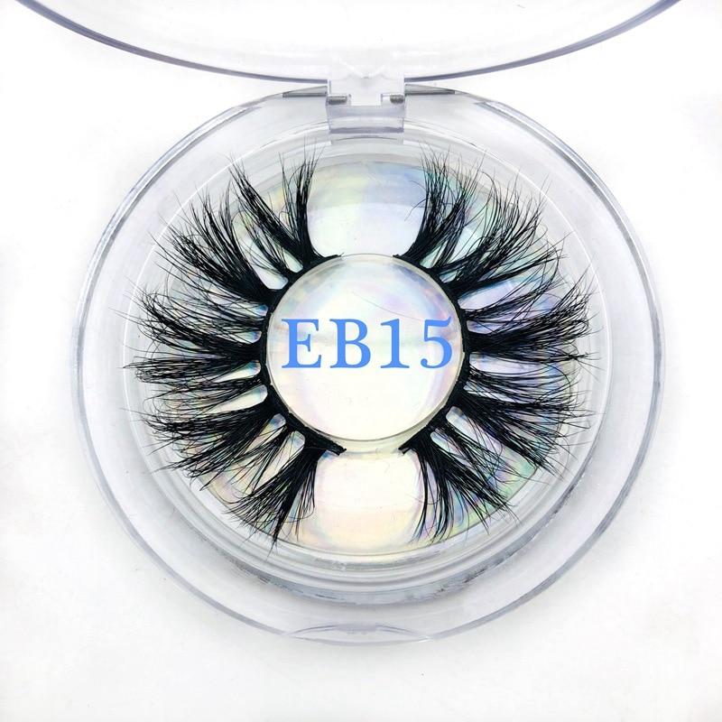 Buzzme 25mm pestañas postizas tira gruesa 3D pestañas de visón real Etiqueta de embalaje personalizado maquillaje pestañas largas de visón