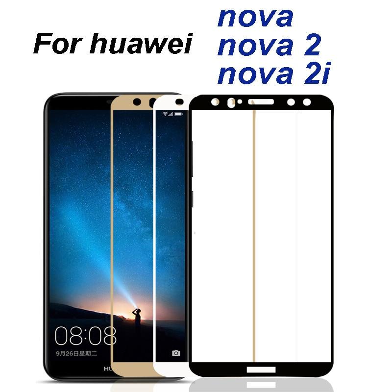 Vidrio protector para huawei nova 2i, protector de pantalla nova2 nova2i 2 i i2, película protectora de vidrio templado 9H