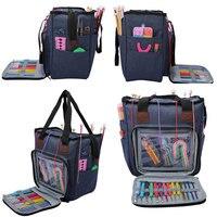 Пустая сумка для хранения пряжи, 4 стиля, для крючков и спиц, «сделай сам», сумка для вязания, аксессуары для шитья